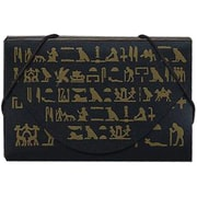 Jam® The Brooklyn Museum Business Card Case With Designs, Black/Gold