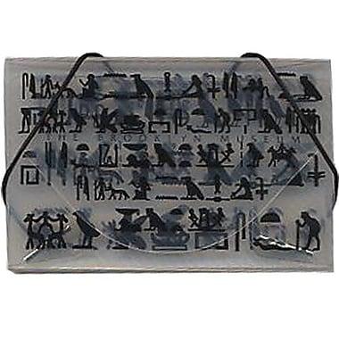 JamMD – Étui pour cartes professionnelles avec motifs du Brooklyn Museum, transparent/noir, 100/paquet