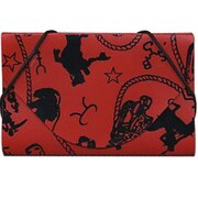 Jam® Western Design Business Card Case With Designs, Red/Black