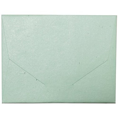 JAM Paper® 10 x 13 Booklet Handmade Envelopes, Pastel Green Recycled, 500/Pack (05964486C)