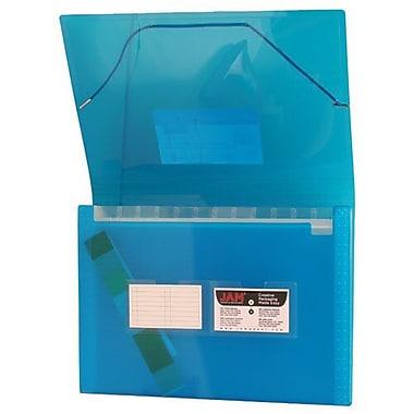 JamMD – Classeur expansible à 13 pochettes au format lettre 9 x 13 po, bleu quadrillé, 24/paquet