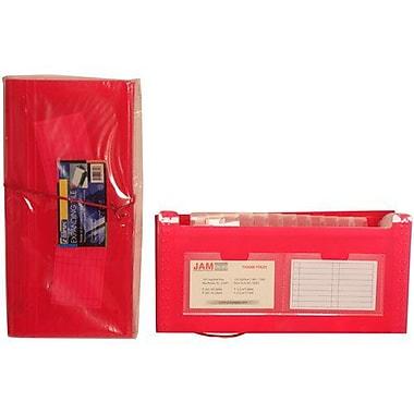 JamMD – Classeur expansible format chèque à 13 pochettes, 5 x 10 1/2 po, rouge, 144/pqt