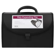Jam® 11 x 15 1/4 Legal Size 21 Poly Expanding File With Handle, Black