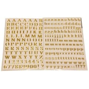 Jam® Self Adhesive Alphabet Letters Stickers, Gold, 2/Pack