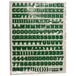 Jam® Self Adhesive Letters Stickers, Green, 372/Sheet