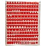 Jam® Self Adhesive Letters Stickers, Red, 372/Sheet