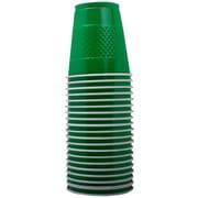 Jam® 12 oz. Medium Plastic Cups, Green, 20/Pack