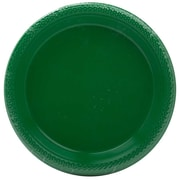 "Jam® 7"" Small Round Plastic Party Plates, Green, 20/Pack"