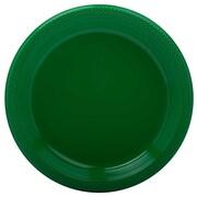 Jam® 9 Medium Round Plastic Party Plates, Green, 20/Pack
