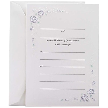 Jam® Fill-In Wedding Invitation Set With 25 Cards & Envelopes