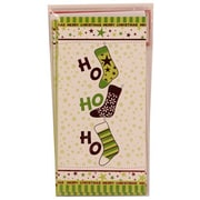 Jam® Holiday Money Cards With 6 Cards and Envelopes, Hohoho Green Stockings