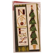 Jam® Christmas Money Cards With 6 Cards and Envelopes, Noel Tree Green