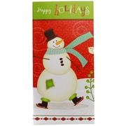 Jam® Christmas Design Money Card With Gift Card Slot, Happy Holidays Snowman