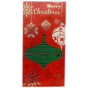 JAM Paper® Christmas Money Cards Set, Merry Christmas Ornaments, set of 6 (95227797)