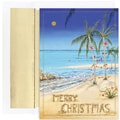 Jam® Warm Wishes Christmas Card Set With 18 Cards and Envelopes, Christmas Beach