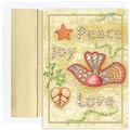 Jam® Warm Wishes Christmas Card Set With 18 Cards and Envelopes, Peace on the Beach