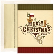 Jam® Warm Wishes Christmas Card Set With 18 Cards and Envelopes, Merry Christmas Y' All
