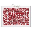 Jam® Winter Wonderland Holiday Card Set With 12 Cards and Envelopes, Merry Christmas Holly