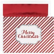 Jam® Winter Wonderland Holiday Card Set With 16 Cards and Envelopes, Merry Christmas Stripes