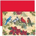 Jam® Home for the Holidays Card Set With 18 Cards and Envelopes, Birds & Berries