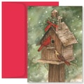 Jam® Christmas Card Set With 18 Cards and Envelopes, Birdhouse and Cardinals