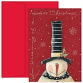 Jam® Home for the Holidays Card Set With 18 Cards and Envelopes, White Christmas Snowman