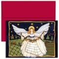 Jam® Home for the Holidays Card Set With 18 Cards and Envelopes, Angel With Star Garland