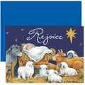 Jam® Home for the Holidays Card Set With 18 Cards and Envelopes, Rejoice Baby Jesus