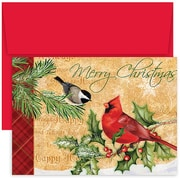 JAM Paper® Christmas Holiday Cards Set, Home for the Holidays Holiday Birds, 18/pack (526839800)