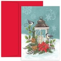 Jam® Home for the Holidays Card Set With 18 Cards and Envelopes, Birds With Candle