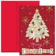 Jam® Christmas Card Set With 18 Cards and Envelopes, Collage Tree