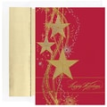 Jam® Peace and Joy Christmas Card Set With 16 Cards and Envelopes, Shimmering Stars