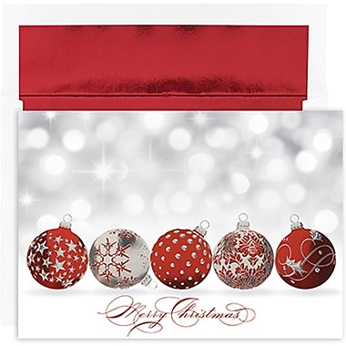 JAM Paper® Christmas Holiday Cards Set, Peace and Joy ...