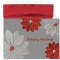 Jam® Peace and Joy Christmas Card Set With 16 Cards and Envelopes, Holiday Poinsettias