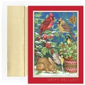Jam® Peace and Joy Christmas Card Set With 16 Cards and Envelopes, Christmas Critters