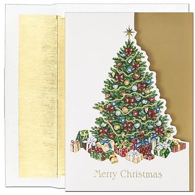 JAMMD – Ensemble de cartes de Noël Peace and Joy comprenant 16 cartes et enveloppes, « Covered In Gifts »
