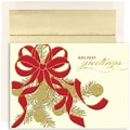 Jam® Peace and Joy Christmas Card Set With 16 Cards and Envelopes, Golden Holiday Bells