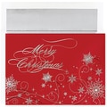 Jam® Peace and Joy Christmas Card Set With 16 Cards and Envelopes, Christmas Snowflakes