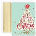 Jam® Peace and Joy Christmas Card Set With 16 Cards and Envelopes, Contemporary Tree