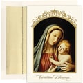 Jam® Peace and Joy Christmas Card Set With 16 Cards and Envelopes, The Madonna and Child