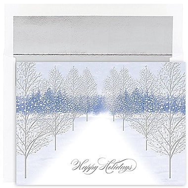JAMMD – Ensemble de cartes de Noël Peace and Joy comprenant 16 cartes et enveloppes, « Winter Path »