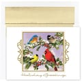 Jam® Peace and Joy Christmas Card Set With 16 Cards and Envelopes, Song Birds