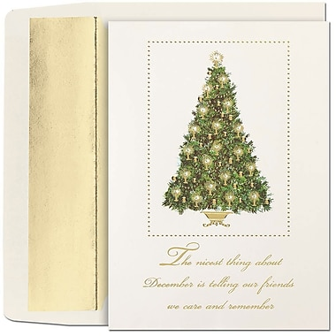 JAM Paper® Christmas Holiday Cards Set, Peace and Joy Nicest Thing About December, 16/Pack (5263547520)