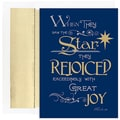 Jam® Peace and Joy Christmas Card Set With 18 Cards and Envelopes, When They Saw The Star