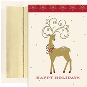 Jam® Peace and Joy Christmas Card Set With 18 Cards and Envelopes, Holiday Deer