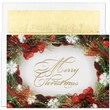 Jam® Christmas Card Set With 18 Cards and Envelopes, Wreath Border