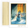 Jam® Peace and Joy Christmas Card Set With 18 Cards and Envelopes, Patriotic Snowman