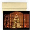 Jam® Peace and Joy Christmas Card Set With 18 Cards and Envelopes, Evening Tree