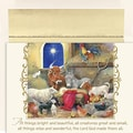 Jam® Peace and Joy Christmas Card Set With 18 Cards and Envelopes, Animals In Manger