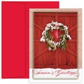 Jam® Peace and Joy Christmas Card Set With 18 Cards and Envelopes, Barn Door